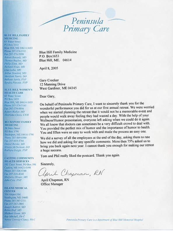 Power Of Humor And Wellness Gary Crocker Maine Humorist